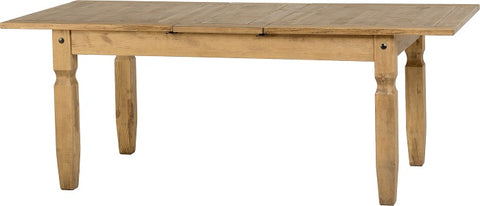Seconique Corona Extending Dining Table - Distressed Waxed Pine