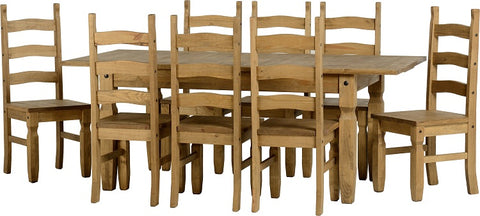 Seconique Corona Extending Dining Set 8 seater - Distressed Waxed Pine