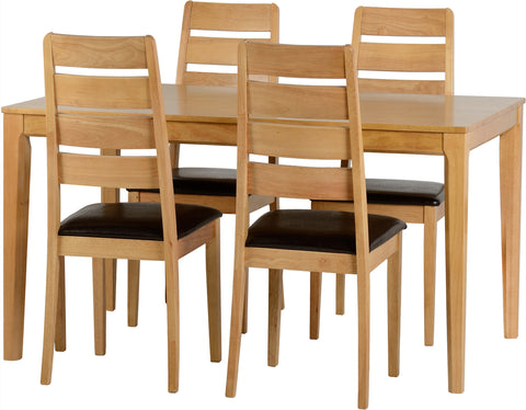 Seconique Logan Dining Set in Oak Effect