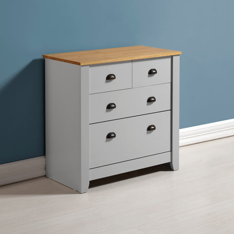 Ludlow Grey 2+2 Drawer Chest