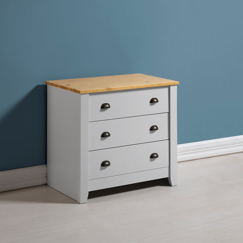 Ludlow Grey 3 Drawer Chest