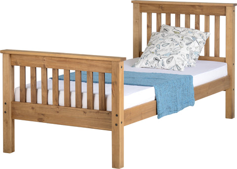 Seconique Monaco Single Bed Frame in Pine