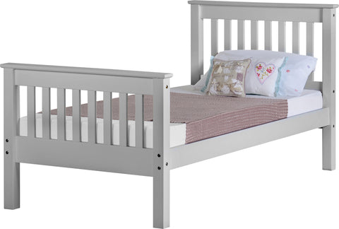 Seconique Monaco 3' Bed High Foot End in Grey
