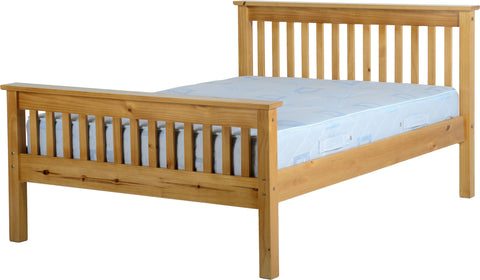 Seconique Monaco Pine Double Bed Frame