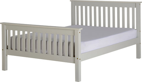 "Seconique Monaco 4'6"" Bed High Foot End in Grey"