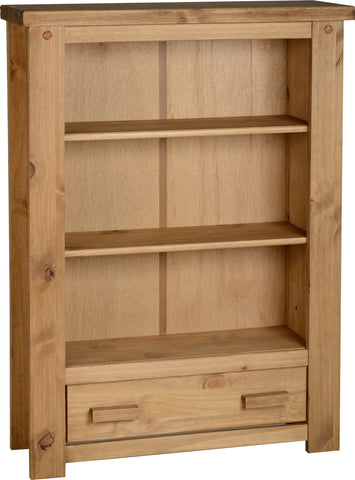 Seconique Tortilla 1 Drawer Bookcase in Distressed Waxed Pine