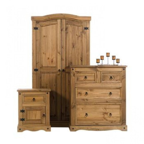 Core Products Corona Mexican Pine Bedroom Package Set