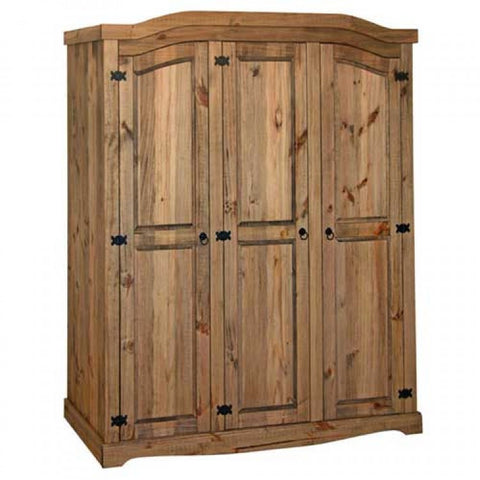 Core Products Corona Mexican Pine style 3 door wardrobe
