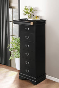 Mayville Tall Chest in Black
