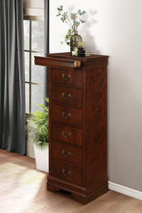 Mayville Tall Chest in Cherry Brown