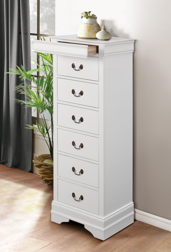 Mayville Tall Chest in White