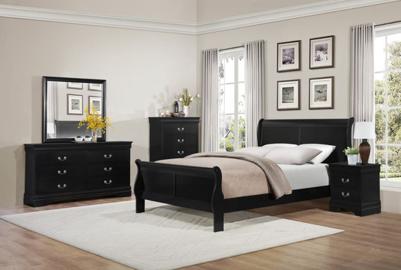Mayville 5PC Sleigh Queen Collection in Black