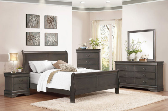 Mayville 5PC Sleigh Queen Collection in Gray