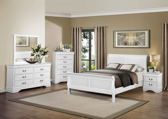 Mayville 5PC Sleigh King Collection in White