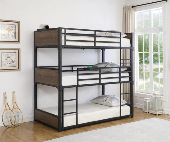 Nickerson Triple Twin Bunk Bed