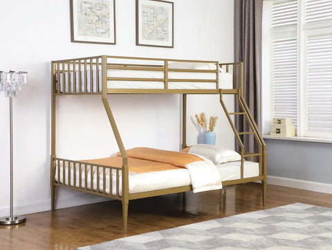 Kidron Twin/Full Gold Bunk Bed