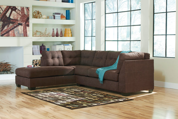 Maier Chaise Sectional in Walnut
