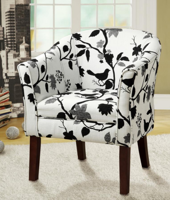 Black & White Accent Chair