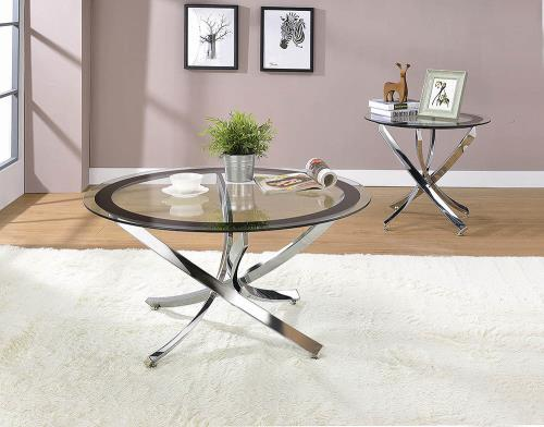 CO-Round Chrome Coffee Table