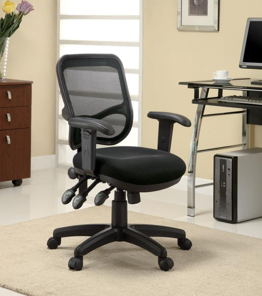 Black Mesh Fabric Office Chair