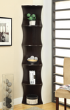 5-Shelf Wave-Like Corner Bookcase