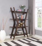 Dark Walnut 4-Tier Bookcase