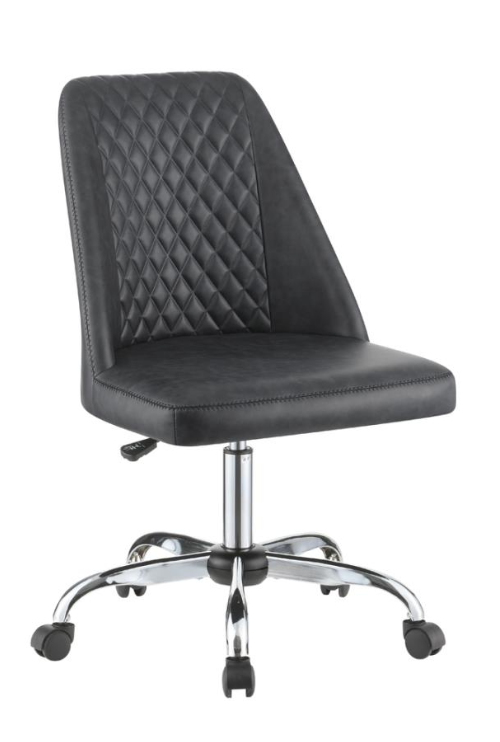 Brown or Black Leatherette Office Chair