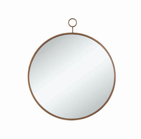 CO-Round Gold Accented Mirror