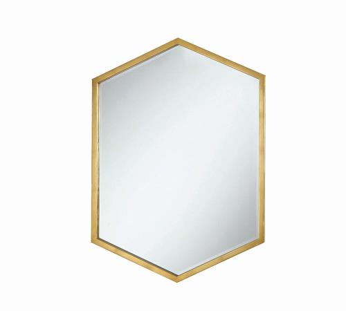 Gold Hexagonal Mirror