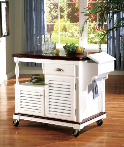 White Kitchen Cart