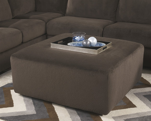 Jessa Place Oversized Accent Ottoman - Chocolate