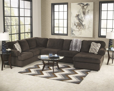 Jessa Place 3pc Sectional w/ Right Arm Facing Chaise - Chocolate