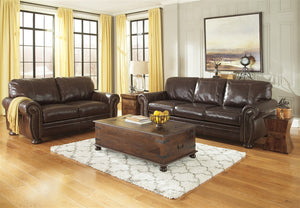 Banner 2pc Leather Living Room Set