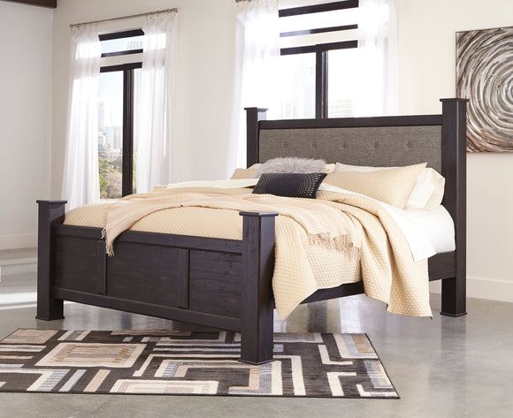 Reylow Upholstered Poster King Bed