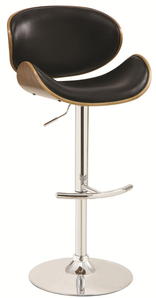 Adjustable Bar Stool with Round Wood Back