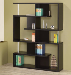Modern Black Geometric Bookcase