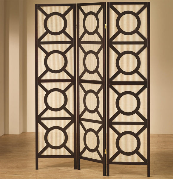 Circle Pattern Folding Screen