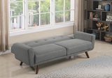 Mid-Century Modern Grey Sofa Bed