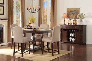 Benwick 5pc Birch Veneer Counter Height Dining Set