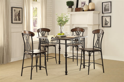 Loyalton 5pc Counter Height Dining Set