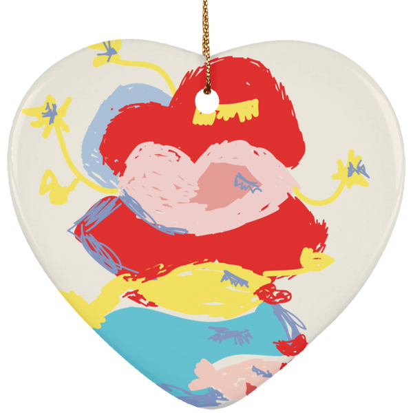 Ceramic Heart Ornament - Happyboca