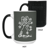 GEMINI - 15 oz. Color Changing Mug - Happyboca