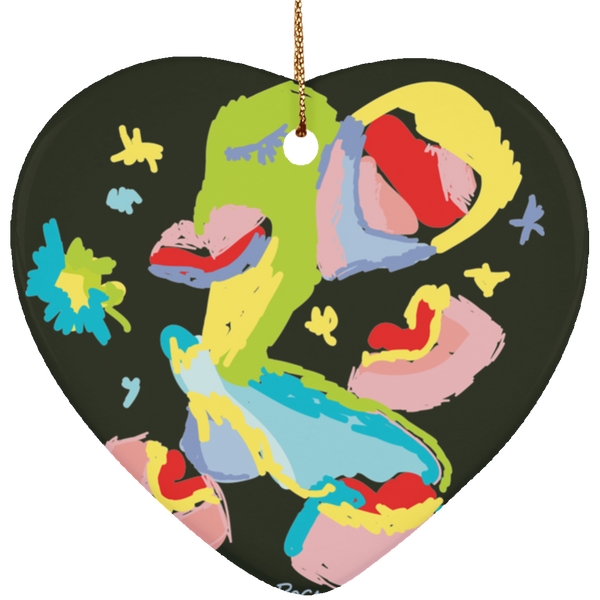 SUBORNH Ceramic Heart Ornament