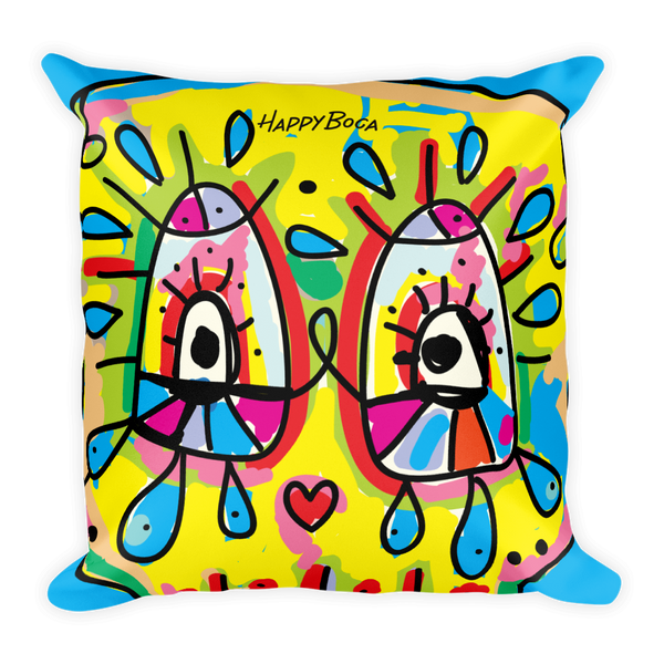 Square Pillow - Happyboca