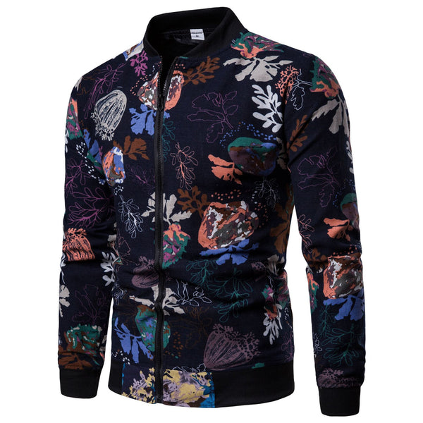Fashion Print Street Style Men Jacket - Happyboca