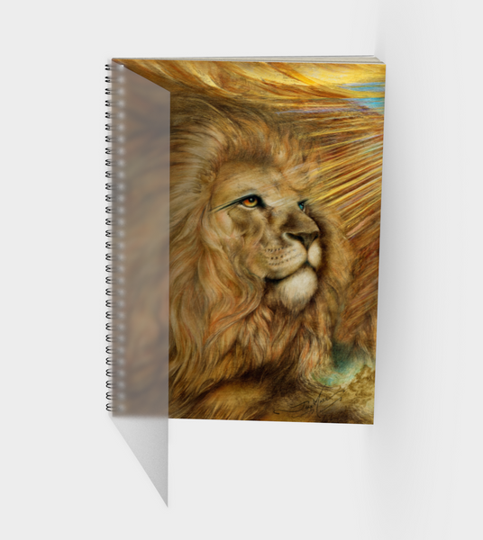 Lion Wisdom, Spiral Notebook, 10