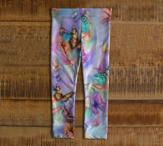Butterfly Mist Leggings for 3 year old