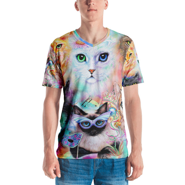 Crazy Cat Lady V-Neck Unisex T-shirt...hand sewn