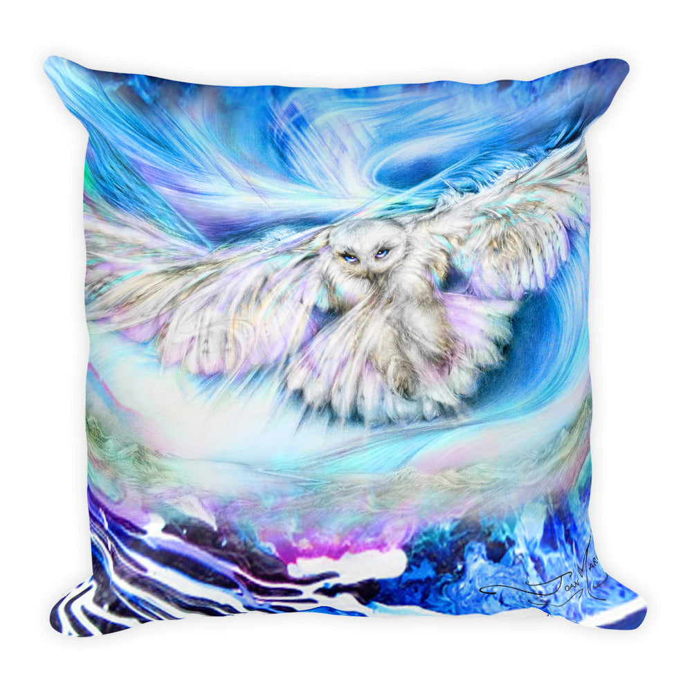 Eagle and Owl Square Pillow