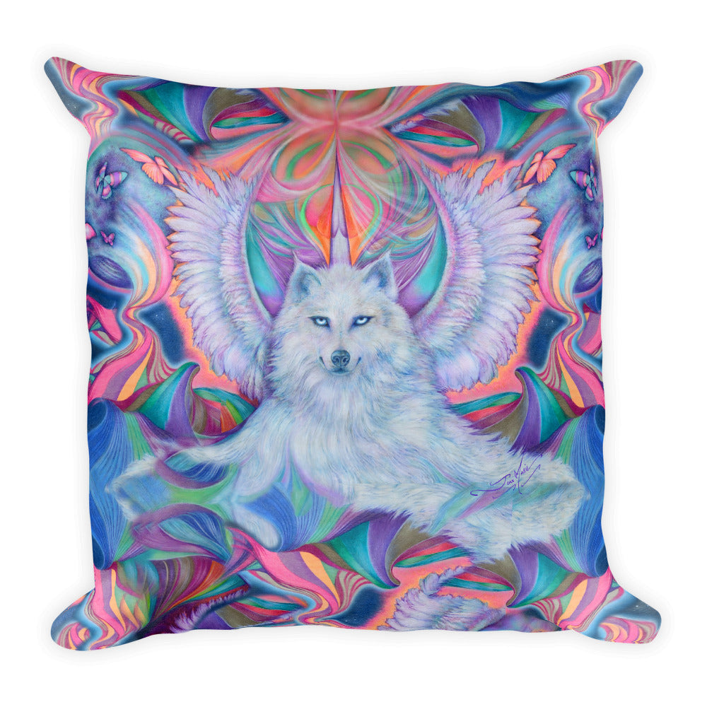 Wolf Spirit, Square Pillow